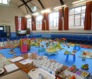 The Foresters Hall ready for our toddler groups.